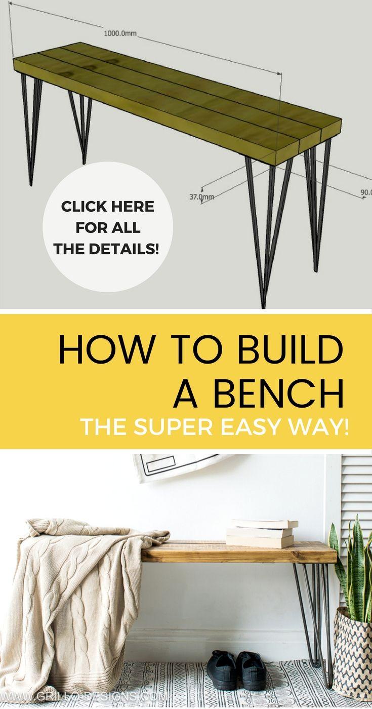 How To Build A Bench The Super Easy Way Plans De Meubles Meuble Et Construire Un Banc