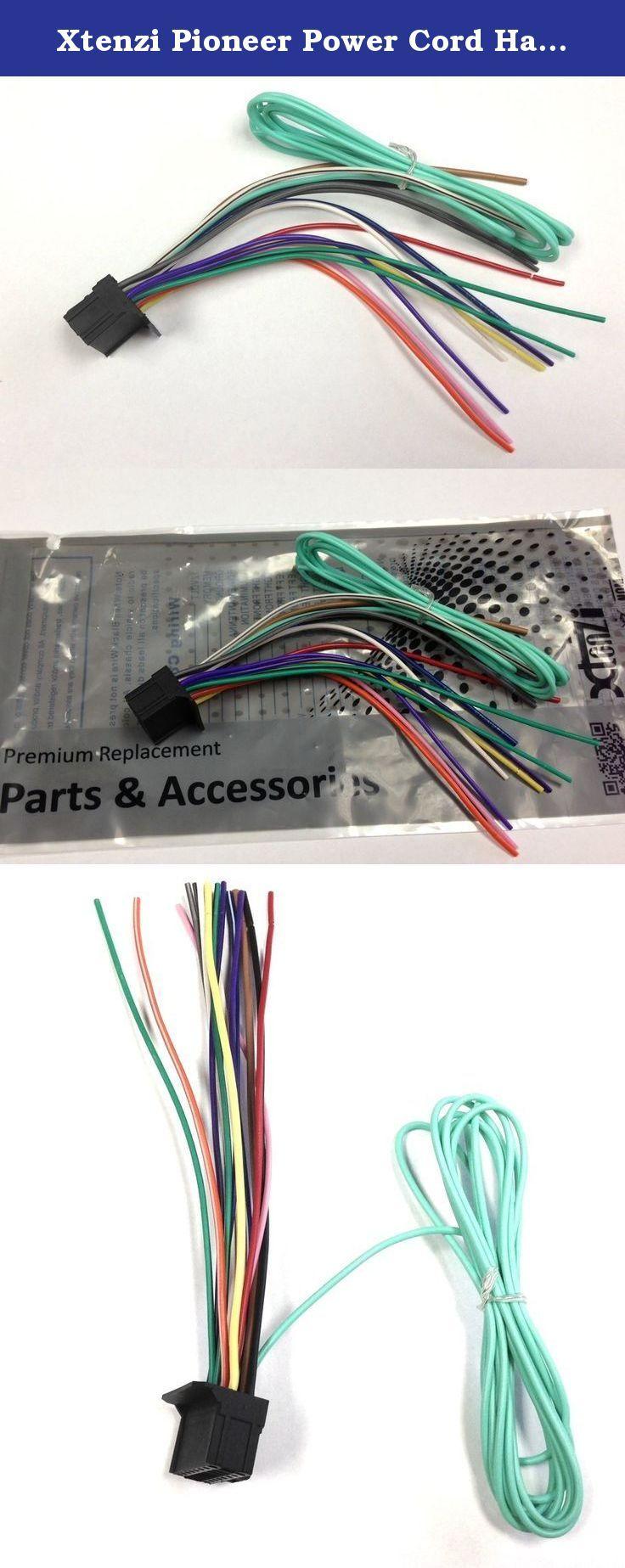 Xtenzi Pioneer Power Cord Harness Speaker Plug For Dvd Receiver Avh P4400bh Wiring Cdp1089 Cdp 1166 P4000