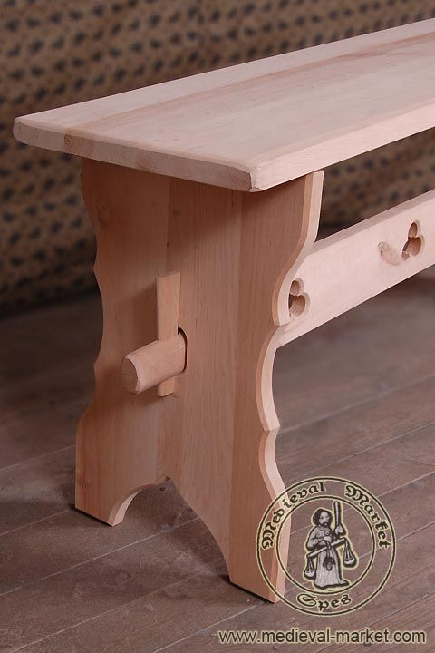 A Bench Type 1 Medieval Market Bench Type 1 Medieval Furniture Wood Bench Plans Wood Bench Outdoor