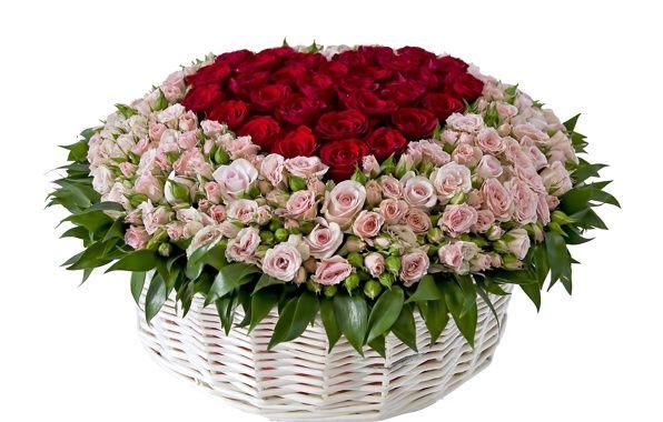 Красивые букеты цветов в корзине фото
