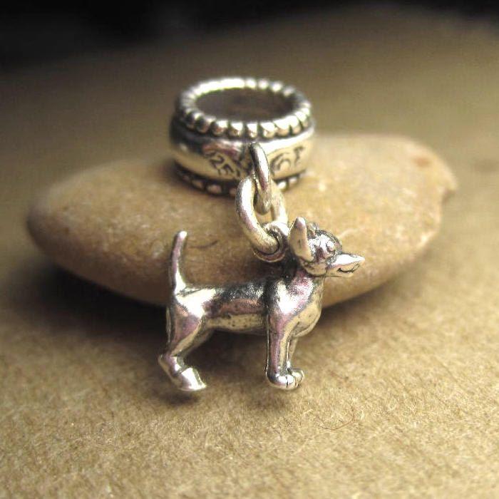 Chihuahua Charm Dog Jewelry Bead Art Pandora Bracelets