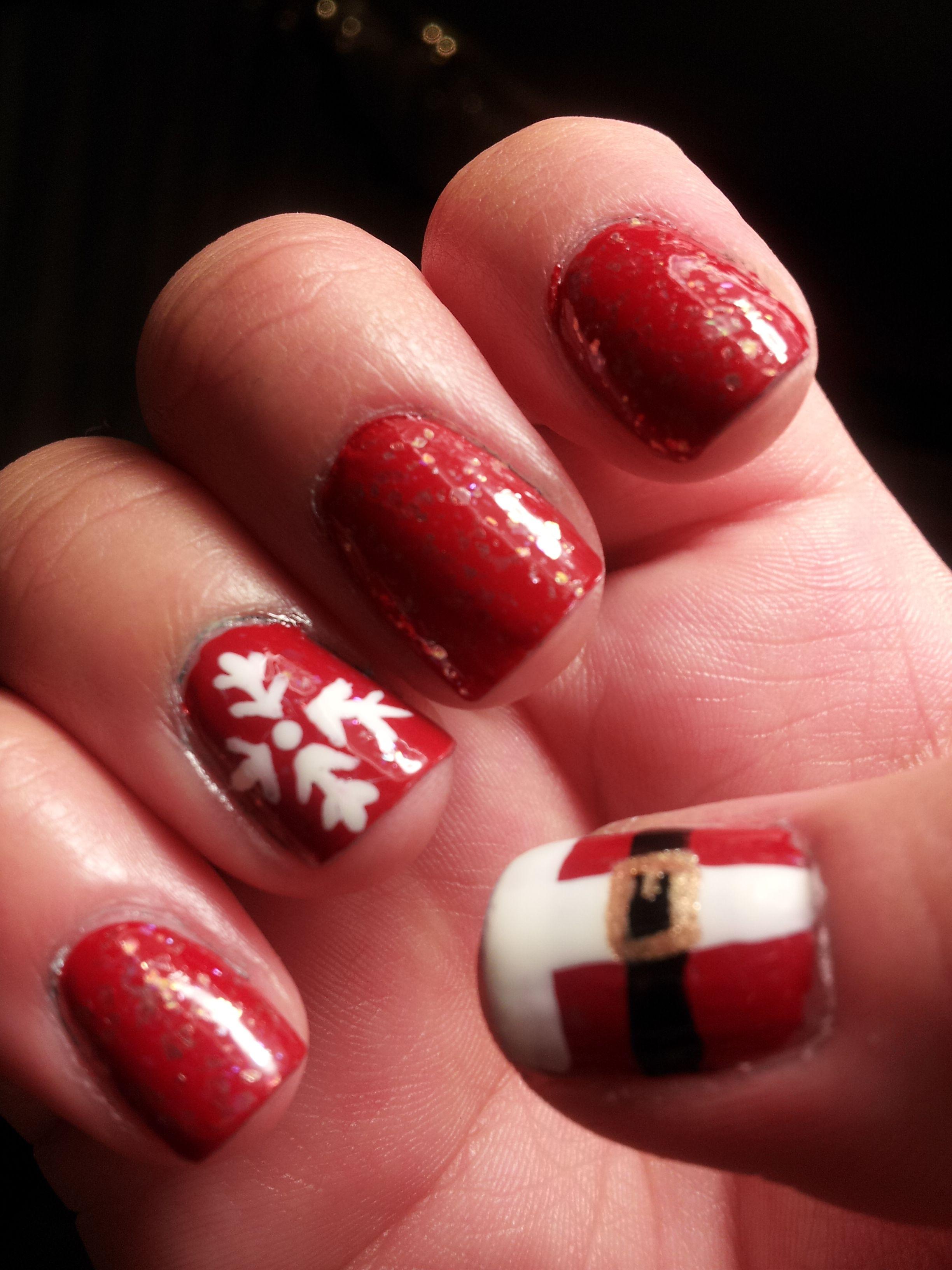 christmas toe nail easy | christmas nail art designs | christmas