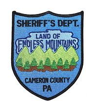 CAMERON COUNTY PENNSYLVANIA PA SHERIFF Police Patch LAND ENDLESS MOUNTAINS ~