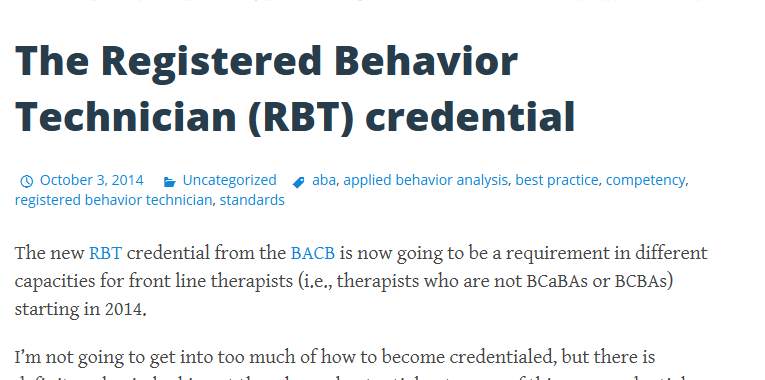 The Registered Behavior Technician Rbt Credential Exam Study Applied Behavior Analysis Study Guide