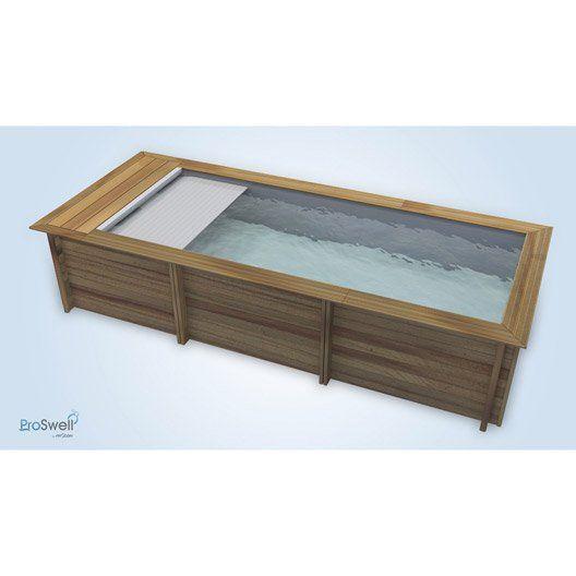 piscine hors sol bois urbaine l 2 5 x l 6 x h 1 33 m piscine piscine hors sol bois piscine