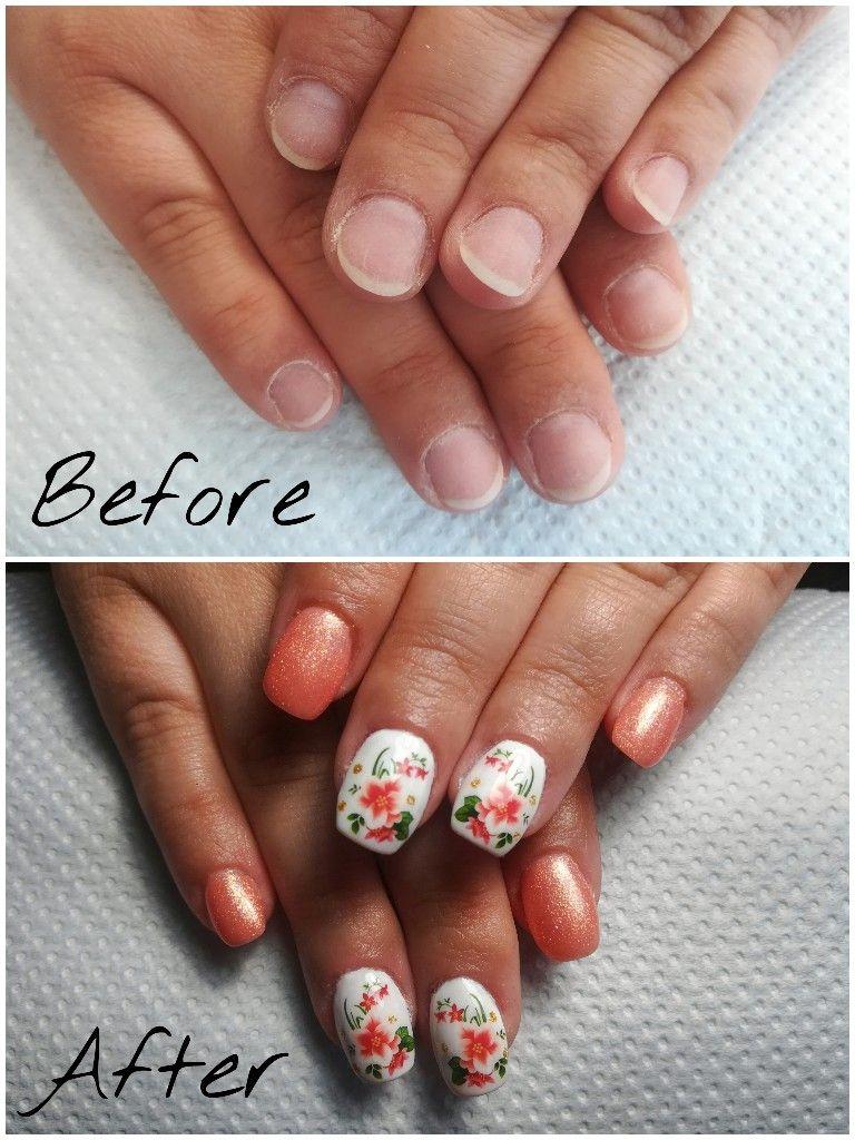 Before And After Hard Gel Nails Hard Gel Nails Gel Nails Nails