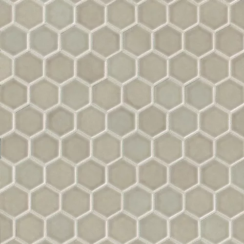 Provincetown 1 11 16 X 1 1 2 Floor Wall Mosaic In Dune Beige In 2020 Hexagonal Mosaic Glazed Ceramic Tile Mosaic
