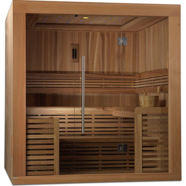 Dynamic Infrared 4 6 Person Traditional Steam Sauna Wayfair Steam Sauna Sauna Steam Room Sauna