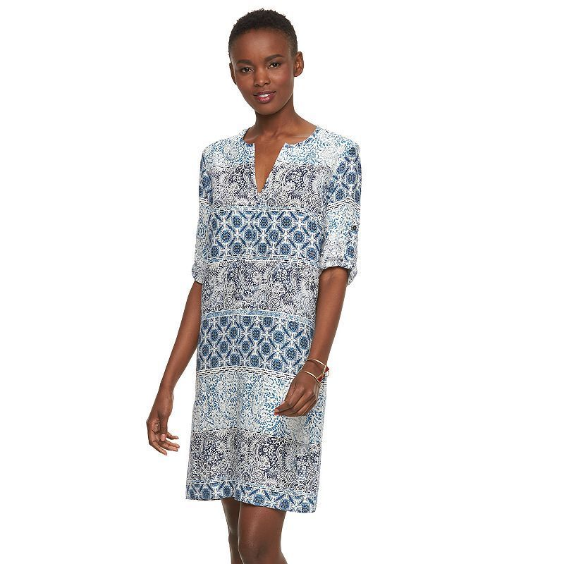 Women's Sharagano Batik Shift Dress