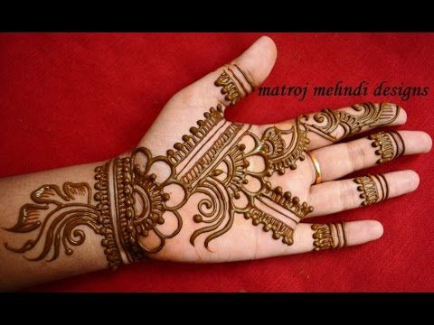 latest easy and simple mehndi design
