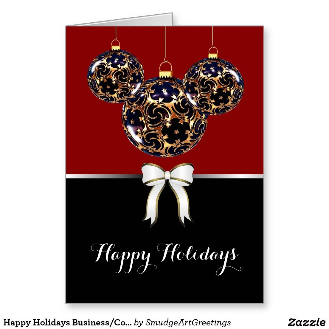 Happy Holidays Business/Corporate - Ornaments Card | Ornament ...