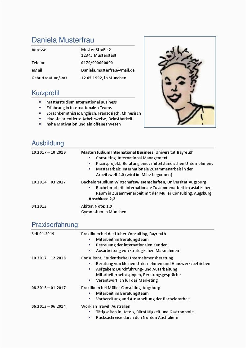 Lebenslauf Vorlage Consulting Lebenslauf Lebenslauf Muster Lebenslauf Beispiele