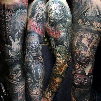 Home Custom Tattoo Design Zombie Tattoos Sleeve Tattoos Tattoos