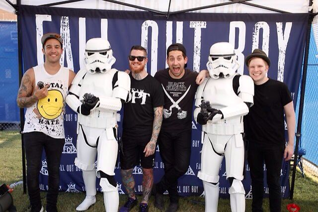 When new politics crashed the fob meet and greet in stormtrooper when new politics crashed the fob meet and greet in stormtrooper outfits m4hsunfo