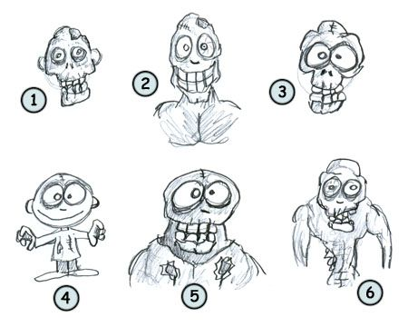 How to draw zombies