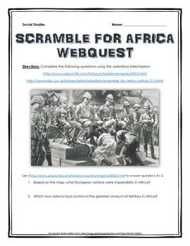 scramble for africa imperialism in africa webquest with teacher rh pinterest com Industrial Revolution Suez Canal