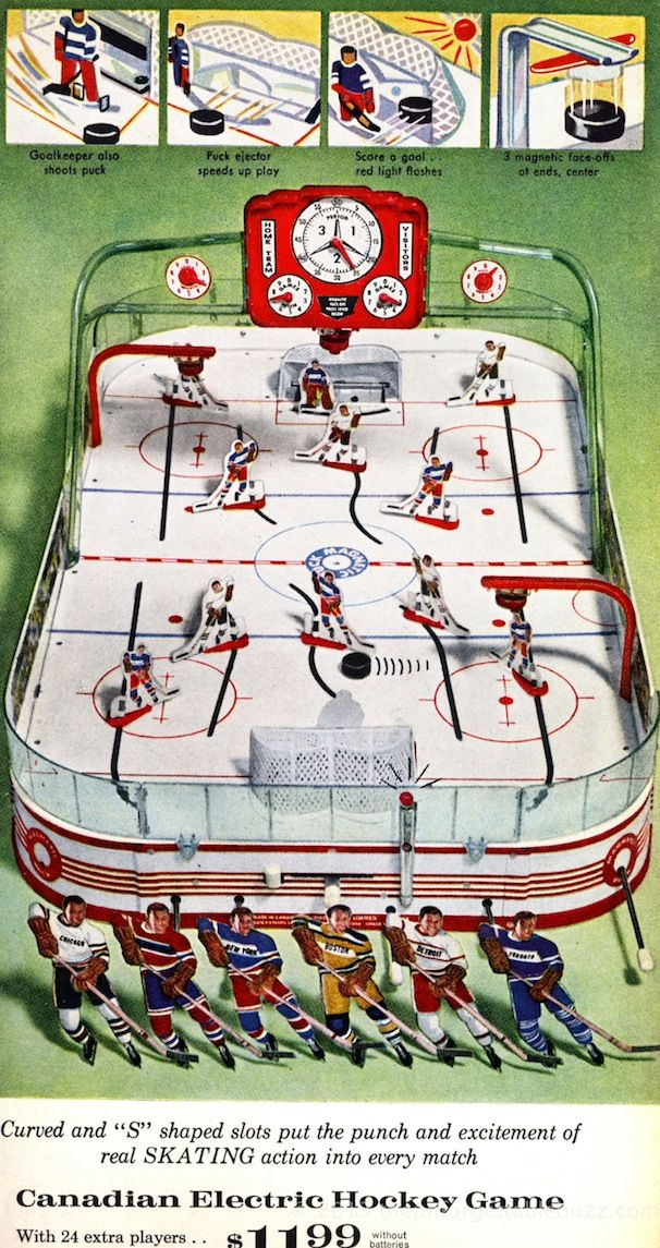 1963 Munro Table Hockey Game Sears Wish Book Vintage Toys 1960s Retro Toys Childhood Toys