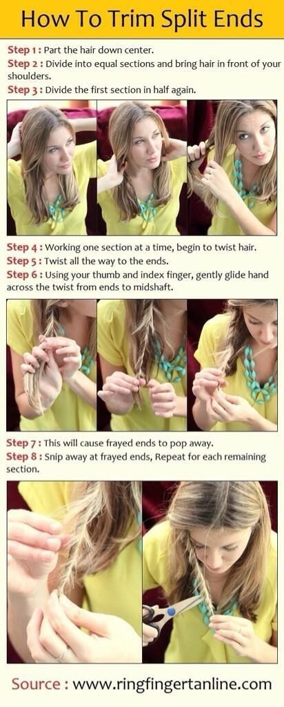 How to cut your own split ends | Beauty | Pinterest | Hair style ...