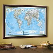 Id love to get a large world map size a piece of cork board to fit id love to get a large world map size a piece of cork framed mapswall gumiabroncs Images