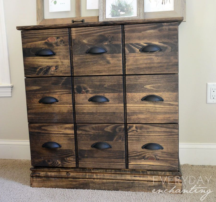 Amazing Ikea Tarva Dresser To Pottery Barn Apothecary Cabinet