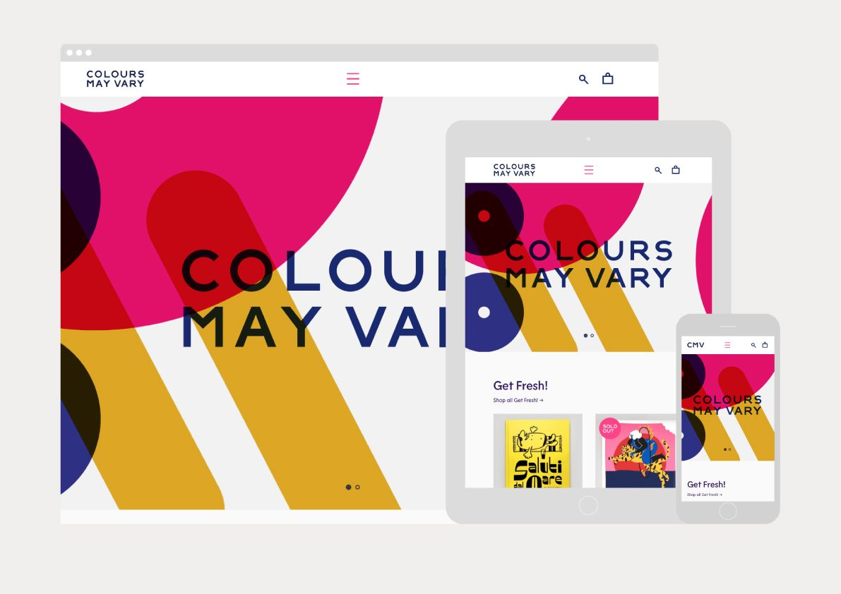 New Graphic Identity For Colours May Vary By Build Bp O Web Design Websites Online Web Design Web Development Design