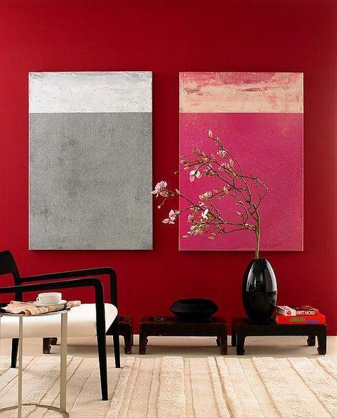 Wandfarbe - Die rote Wand Roten wände, Schöner wohnen farben und - wohnzimmer wandfarbe rot