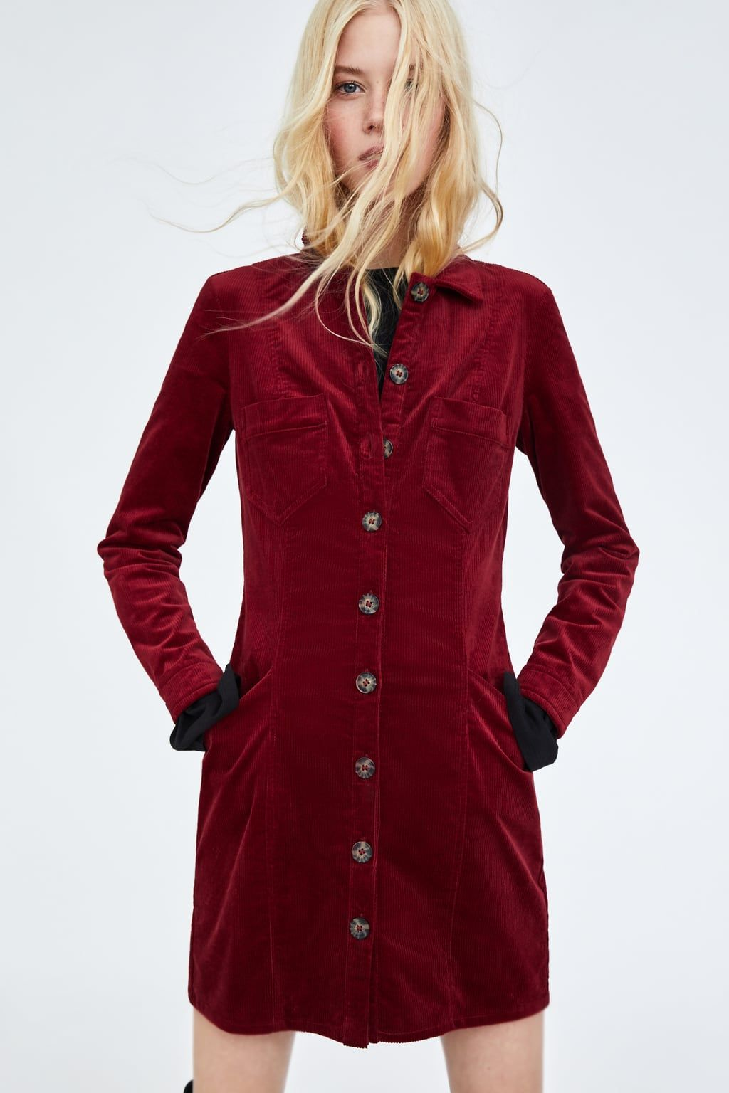 Zara Dan 2 Fitilli Kadife Elbise Resmi Denim Fashion Corduroy Dress Dresses [ 1536 x 1024 Pixel ]