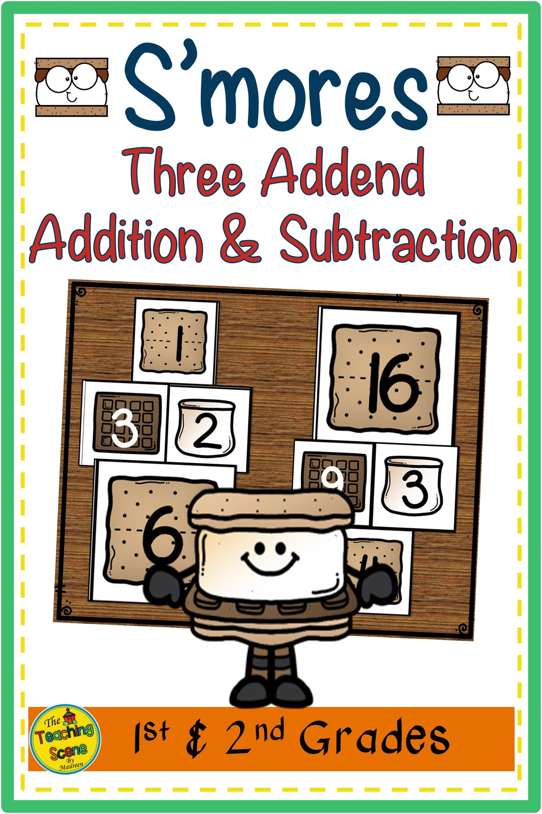 S Mores Three Addend Addition Amp Subtraction 0 20 In