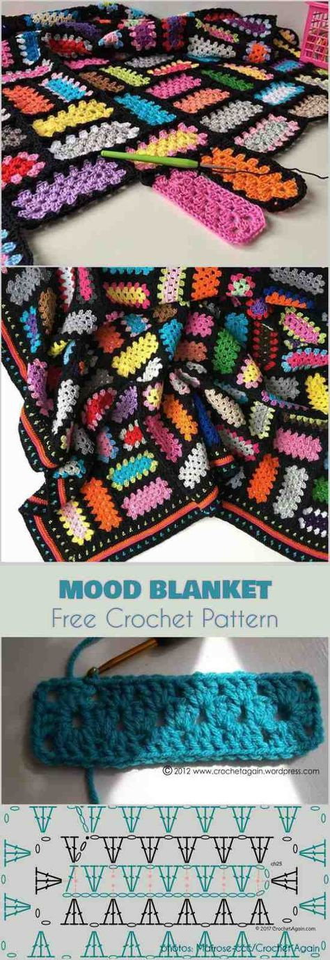 Mood Blanket from A Better Granny Rectangle Free Crochet Pattern ...