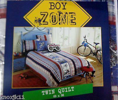 New Motocross Monster Jam Truck Dirt Bike Motorcycle Twin Quilt Bedding Boy Zone | eBay