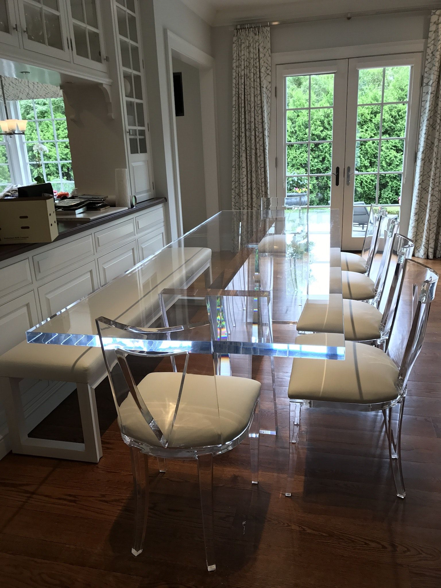 Prop Positions Inc Acrylic Dining Table In Transitional Dining