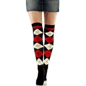 Foot Traffic Black Cat Face Cat Eyes Over The Knee Socks Womens Ladies New