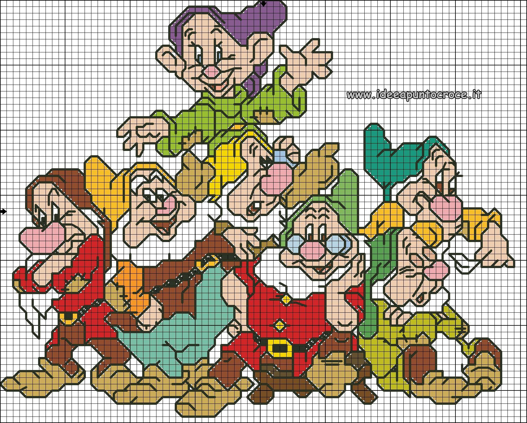 Favorito SCHEMA PUNTO CROCE I SETTE NANI | Cross stitch | Pinterest | Cross  PR93