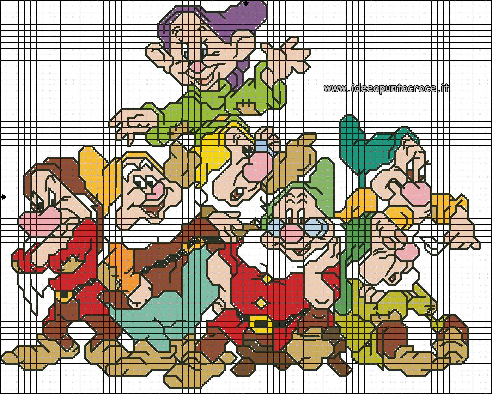 Favorito SCHEMA PUNTO CROCE I SETTE NANI | Cross stitch | Pinterest | Cross  PR93