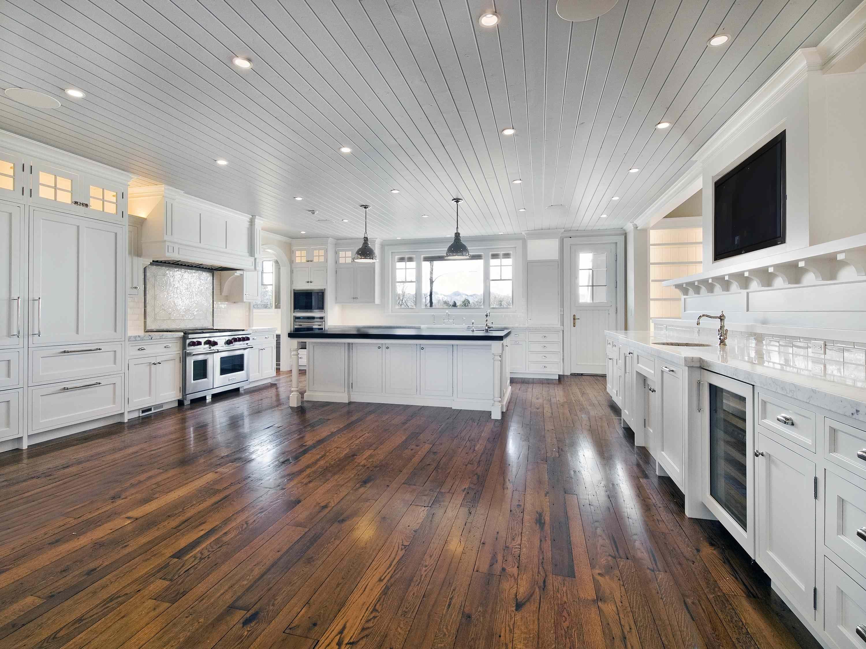 Reclaimed Antique Hardwood Flooring   Cottage kitchen design, Wood ...