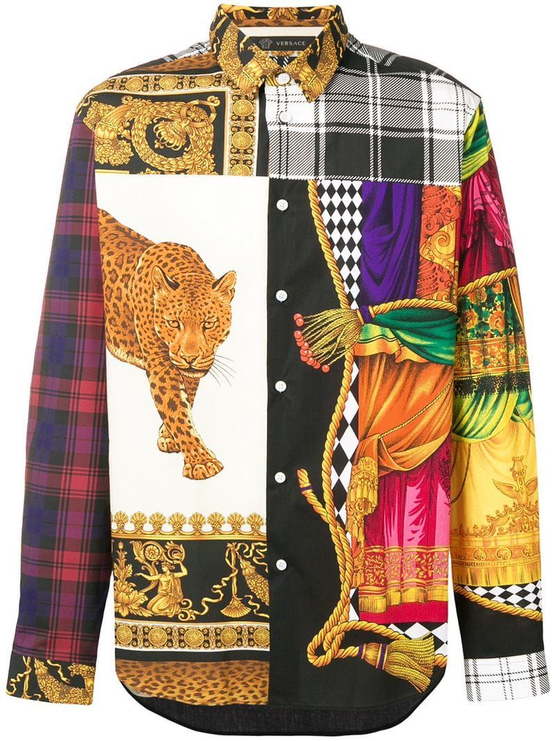 26ab860fa8464 VERSACE SIGNATURE SPARIO PRINT SHIRT. #versace #cloth #   02. T ...