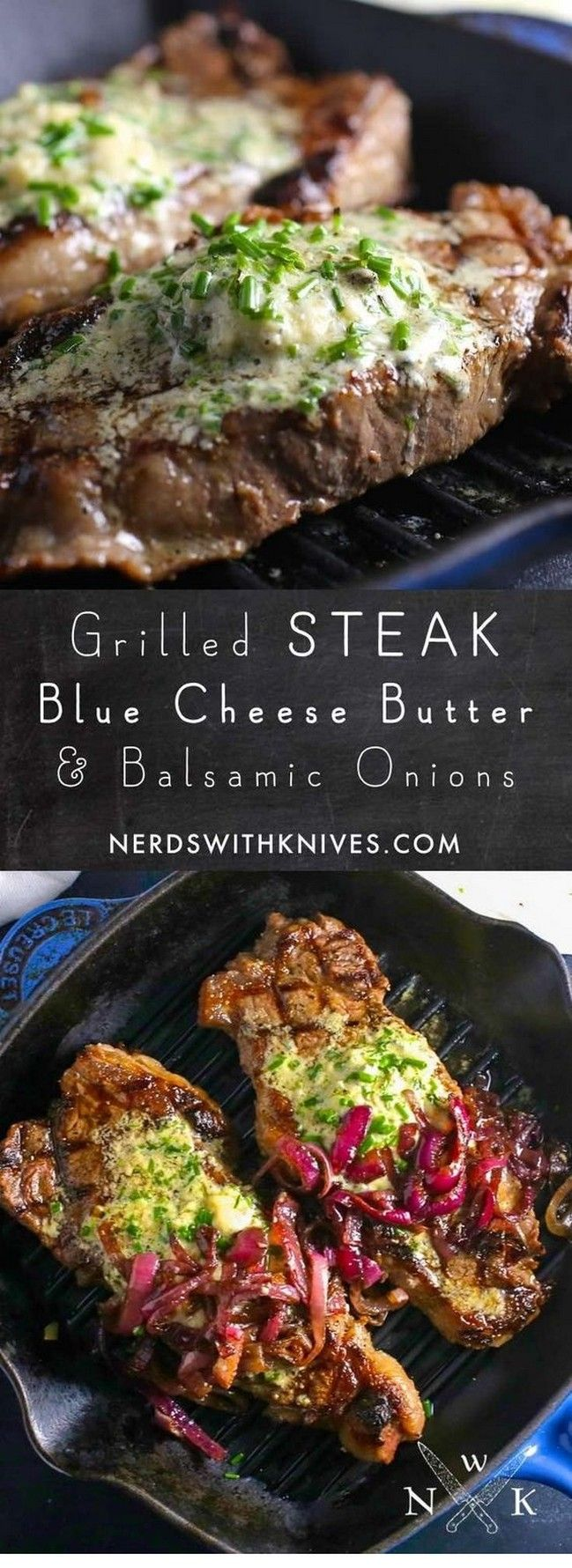 Photo of Steak With Blue Cheese And Chive Compound Butter   Steak Recipes Grilled
