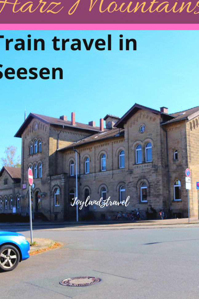 Traveling by train in Seesen and a beautiful scenery of Harz mountains  Lower Saxony  Germany #germany #traveldestinations #traintravel #seesenniedersachsen come and join on my journey