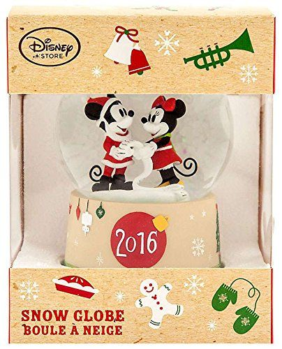 Disney Mickey Mouse 2016 Mickey Mouse & Minnie Mouse Snowglobe Exclusive Snow Globe