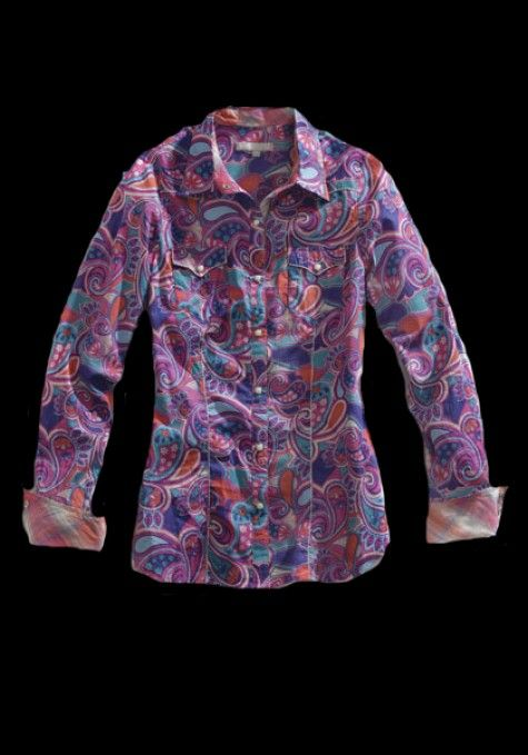 77ba9ffa37e892 Tin Haul® Women's Multi Colored Paisley Long Sleeve Pearl Snap Western Shirt