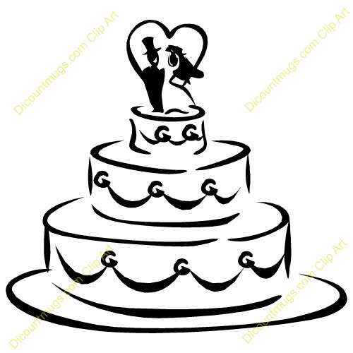 Black And White Wedding Cake Clip Art