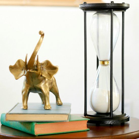 Make Your Own Hourglass From Materials Found At The Craft Store And
