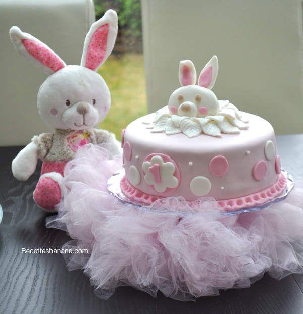 Gâteau d'anniversaire pour bébé fille TARTES ET GATEAUX