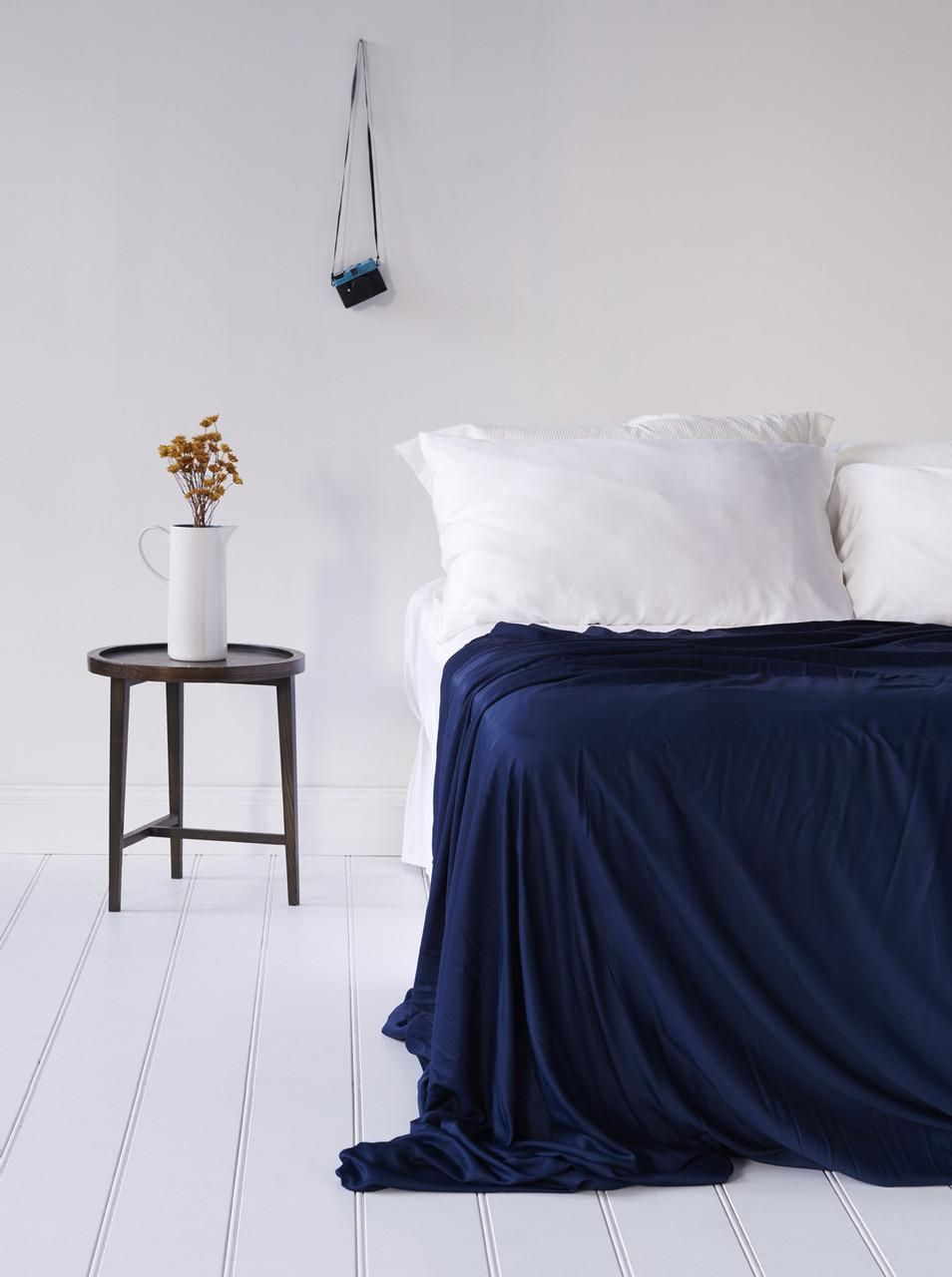 Bamboo Bondi Sheet Set Blue Nights Luxury Bed Sheets Bed