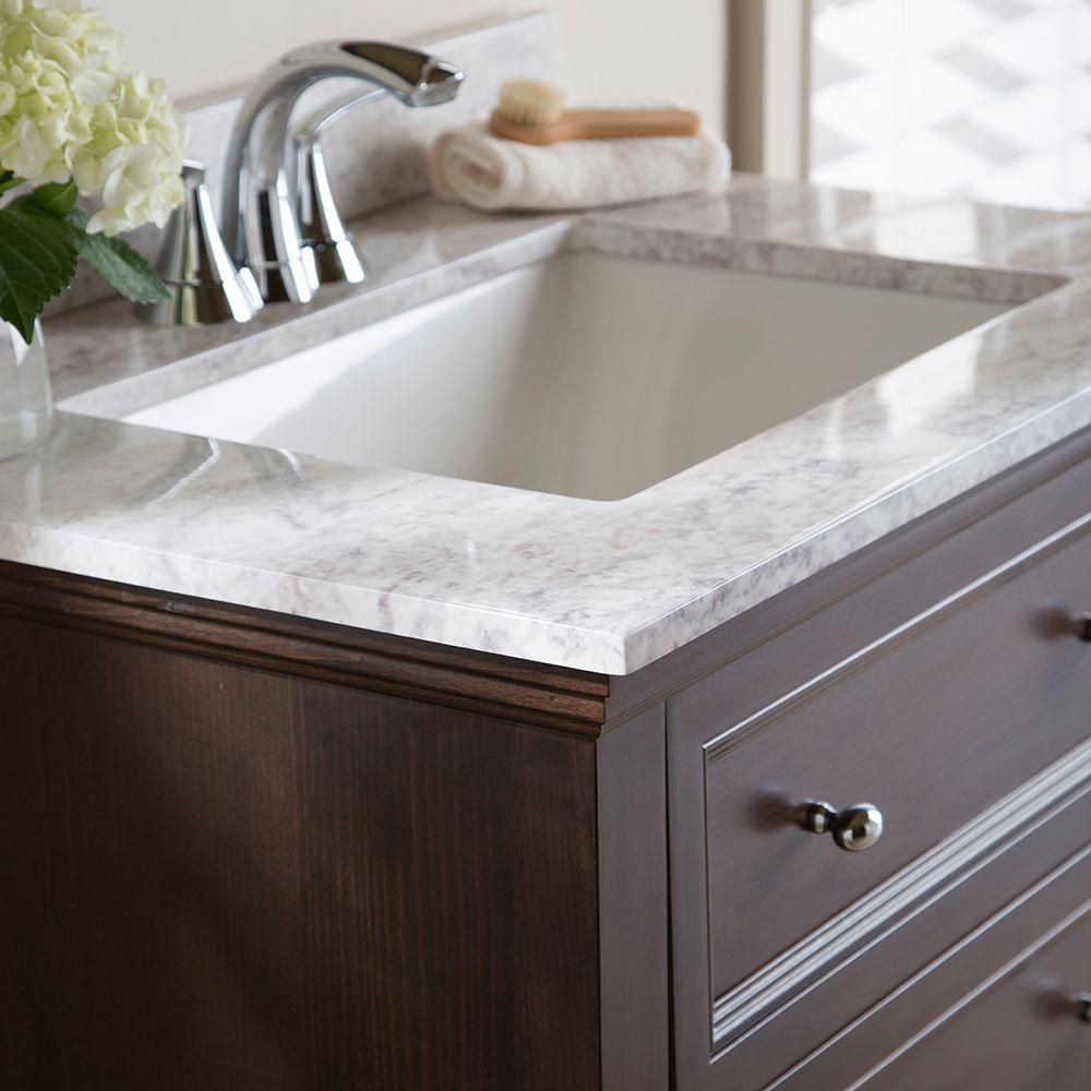 Home Decorators Collection 31 In Stone Effects Vanity Top Winter Mist With White Basin Ser31 Wm The Depot