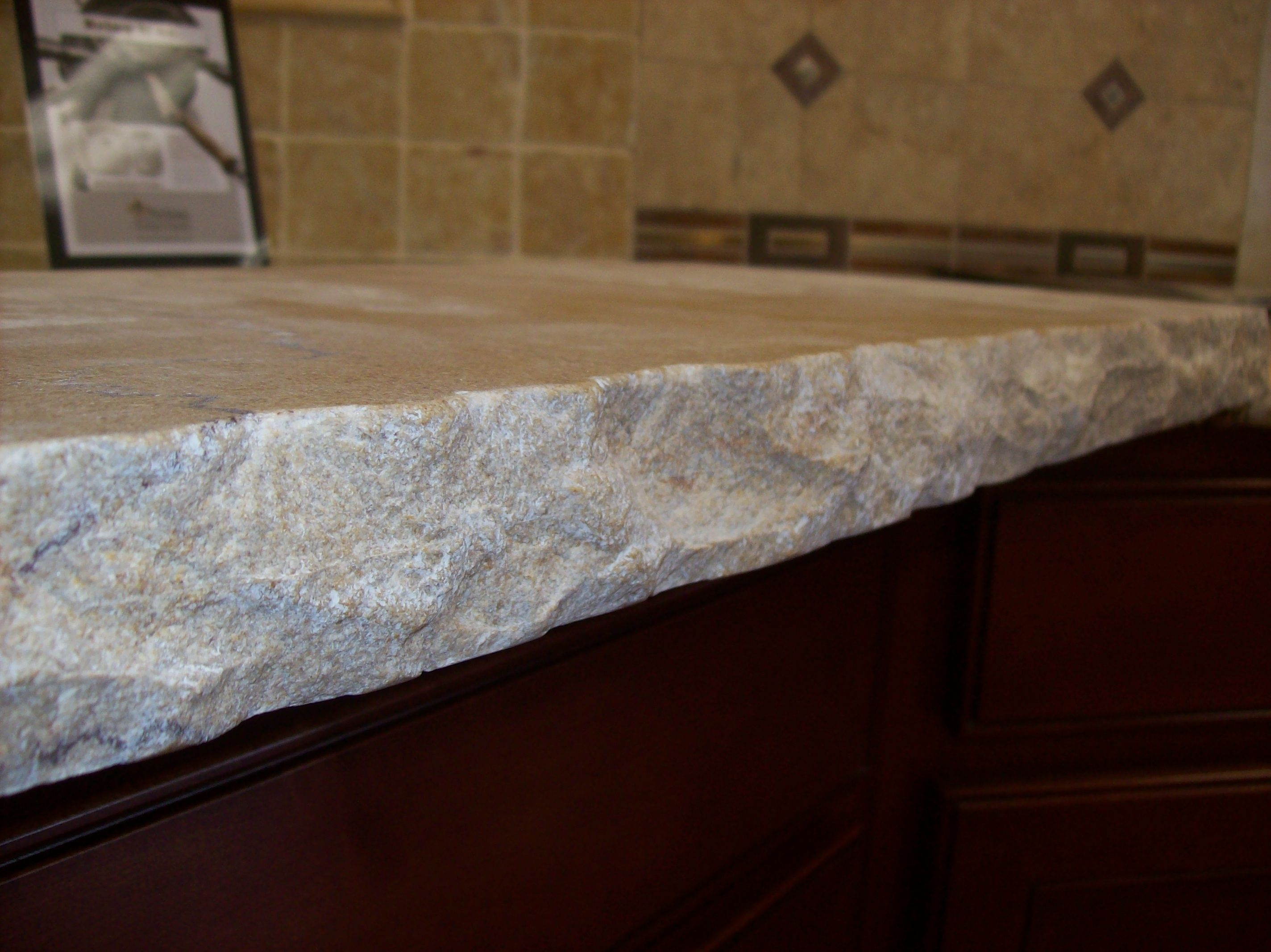 Natural Stone Bbq Counter Tops Although It Looks Rough