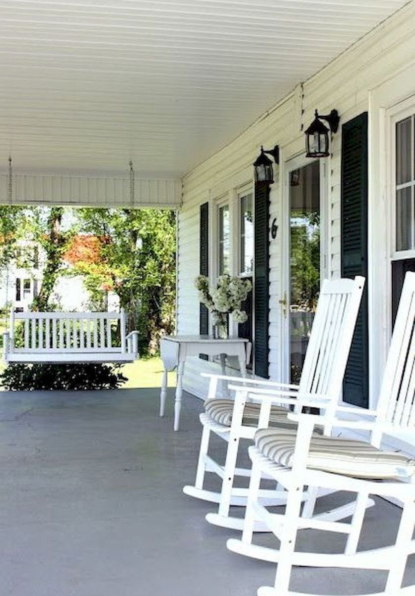 60 Awesome Farmhouse Porch Rocking Chairs Decoration 41 Farmhouse Front Porches Porch Design Front Porch Design