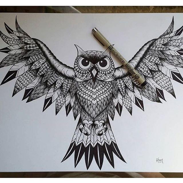 this is awesome owl mandala art by awesome hmaertenart double tap if u