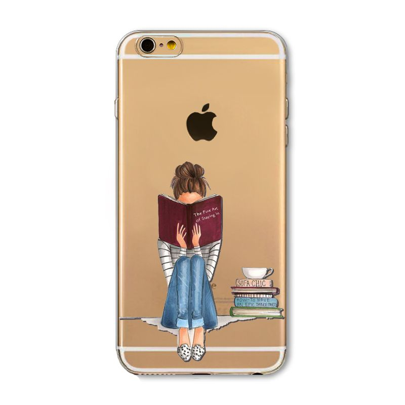 S Animals Transparent Case For Iphone S Floral Paisley Love Words Phone Cover Tpu Silicone Fundas Cases