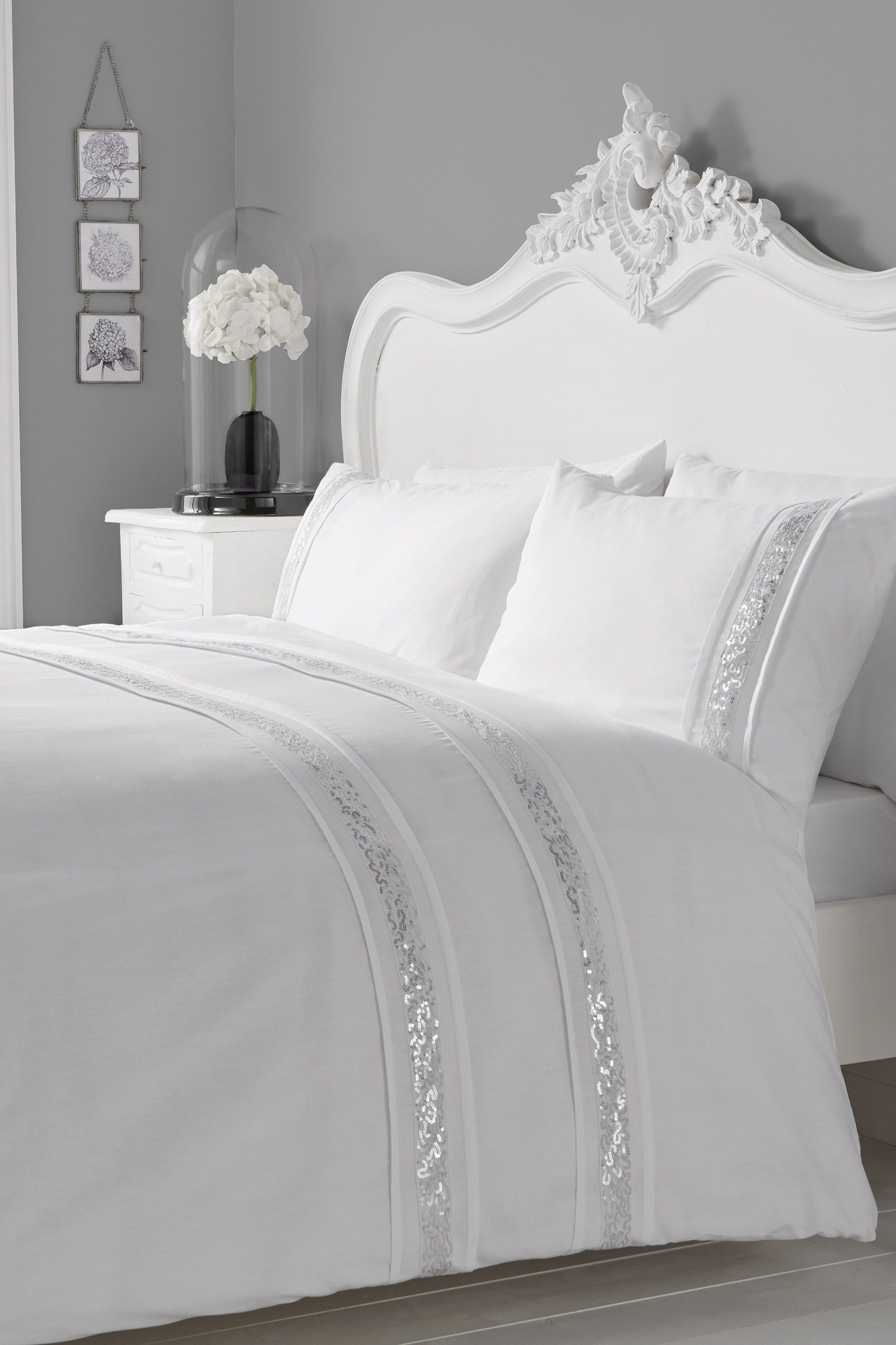 a476bb8471fd Sparkle Bedding Set, White, Kingsize | BHS | Bedroom Envy | Duvet ...